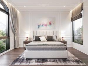 thiết kế biệt thự tân cổ điển - phòng ngủ 1 tầng 2
