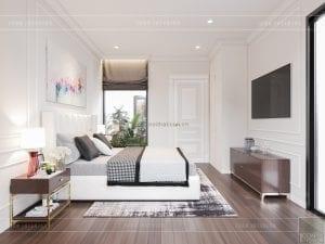thiết kế biệt thự tân cổ điển tầng 2 phòng ngủ