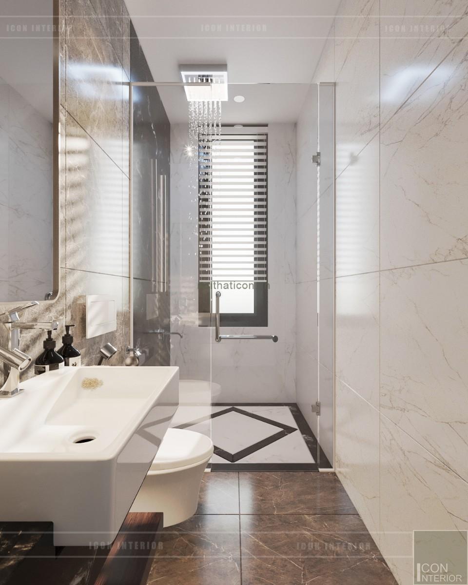 thiết kế biệt thự tân cổ điển - phòng tắm tầng 2