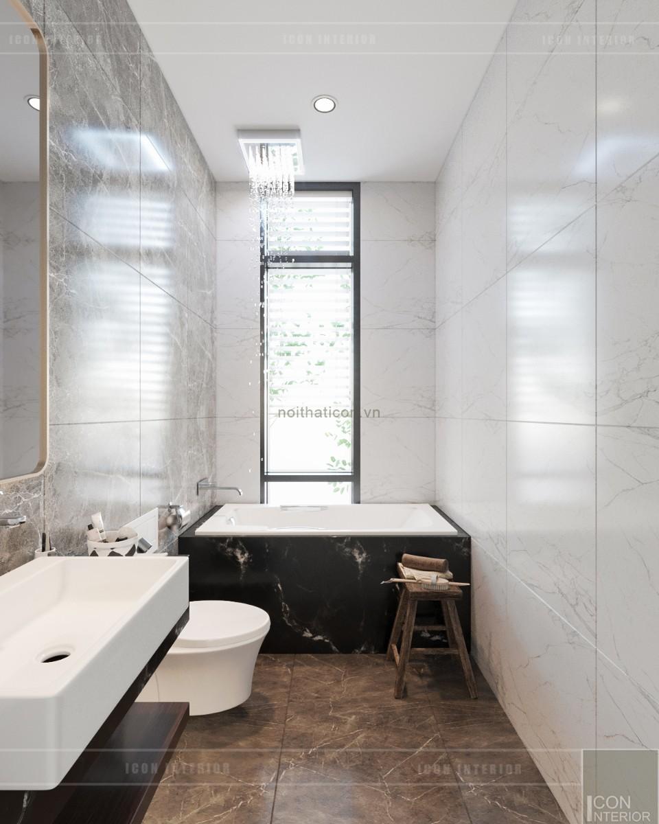 thiết kế biệt thự tân cổ điển - phòng tắm phòng master