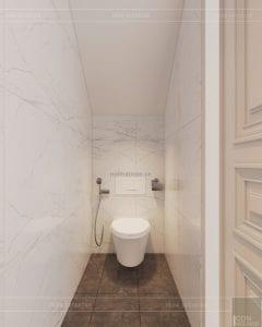 thiết kế biệt thự tân cổ điển wc tầng trệt