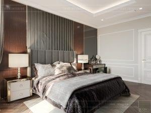thiết kế biệt thự tân cổ điển - phòng ngủ master tầng 1