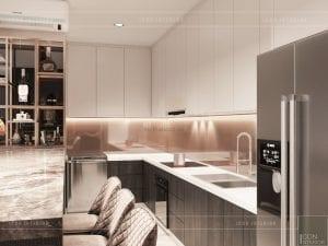 thiết kế nội thất căn hộ millennium - nhà bếp