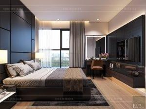 thiết kế nội thất căn hộ millennium - phòng ngủ master