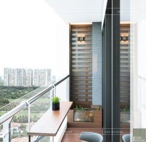 thiết kế nội thất căn hộ millennium ban công