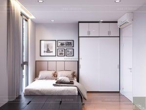 thiết kế nội thất căn hộ millennium - phòng ngủ nhỏ