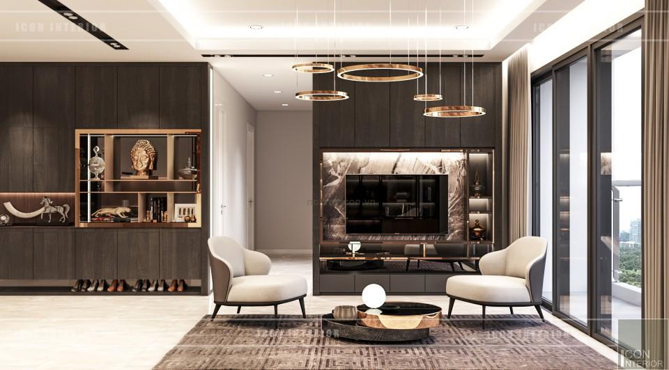 thiết kế nội thất căn hộ millennium phòng khách