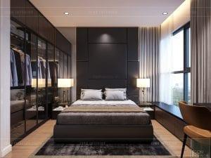 thiết kế nội thất căn hộ millennium - phòng master