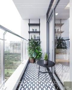 phong cách hiện đại sang trọng balcony