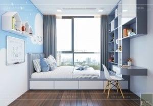 phong cách hiện đại sang trọng - phòng ngủ bé