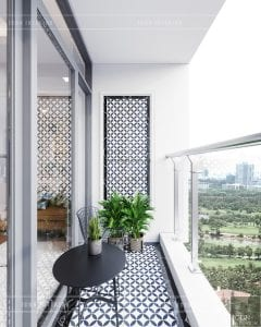 phong cách hiện đại sang trọng - balcony