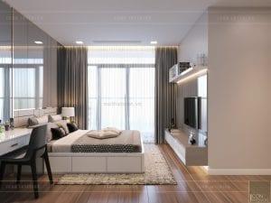 phong cách hiện đại sang trọng - phòng ngủ master