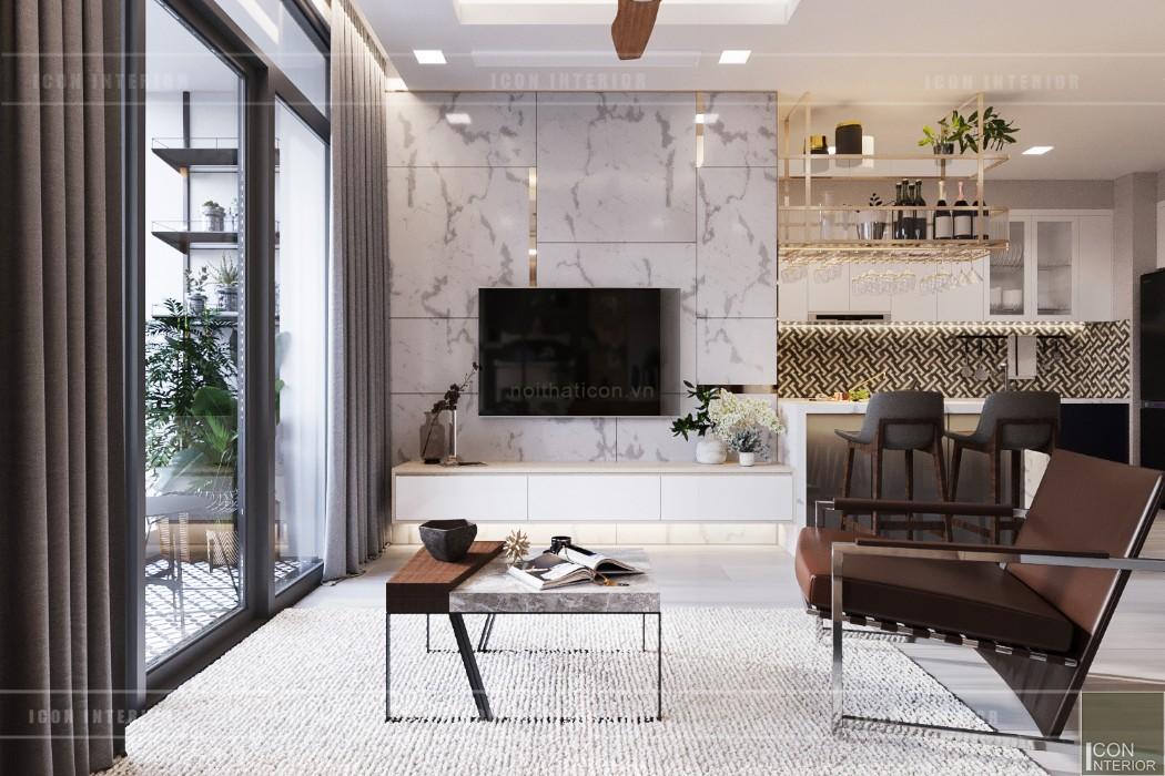 phong cách hiện đại sang trọng vinhomes central park - phòng khách