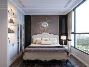 thiết kế nội thất căn hộ landmark 4 - phòng ngủ master 3