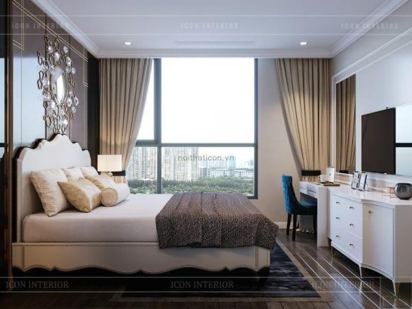 thiết kế nội thất căn hộ landmark 4 - phòng ngủ master 2