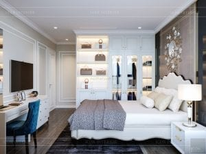 thiết kế nội thất căn hộ landmark 4 - phòng ngủ master 4