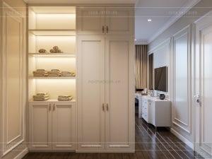 thiết kế nội thất căn hộ landmark 4 - phòng ngủ master 1