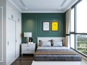 thiết kế nội thất căn hộ landmark 4 - phòng ngủ nhỏ 1