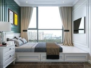 thiết kế nội thất căn hộ landmark 4 - phòng ngủ nhỏ 2