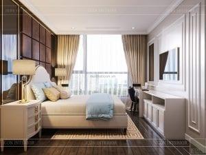 thiết kế nội thất căn hộ landmark 4 - phòng ngủ 1