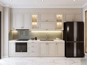thiết kế nội thất căn hộ landmark 4 - phòng khách bếp 9