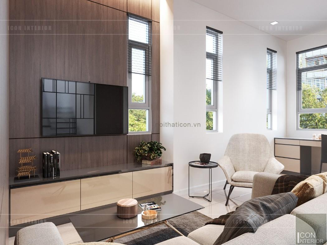 phong cách hiện đại trong thiết kế nội thất trần anh riverside
