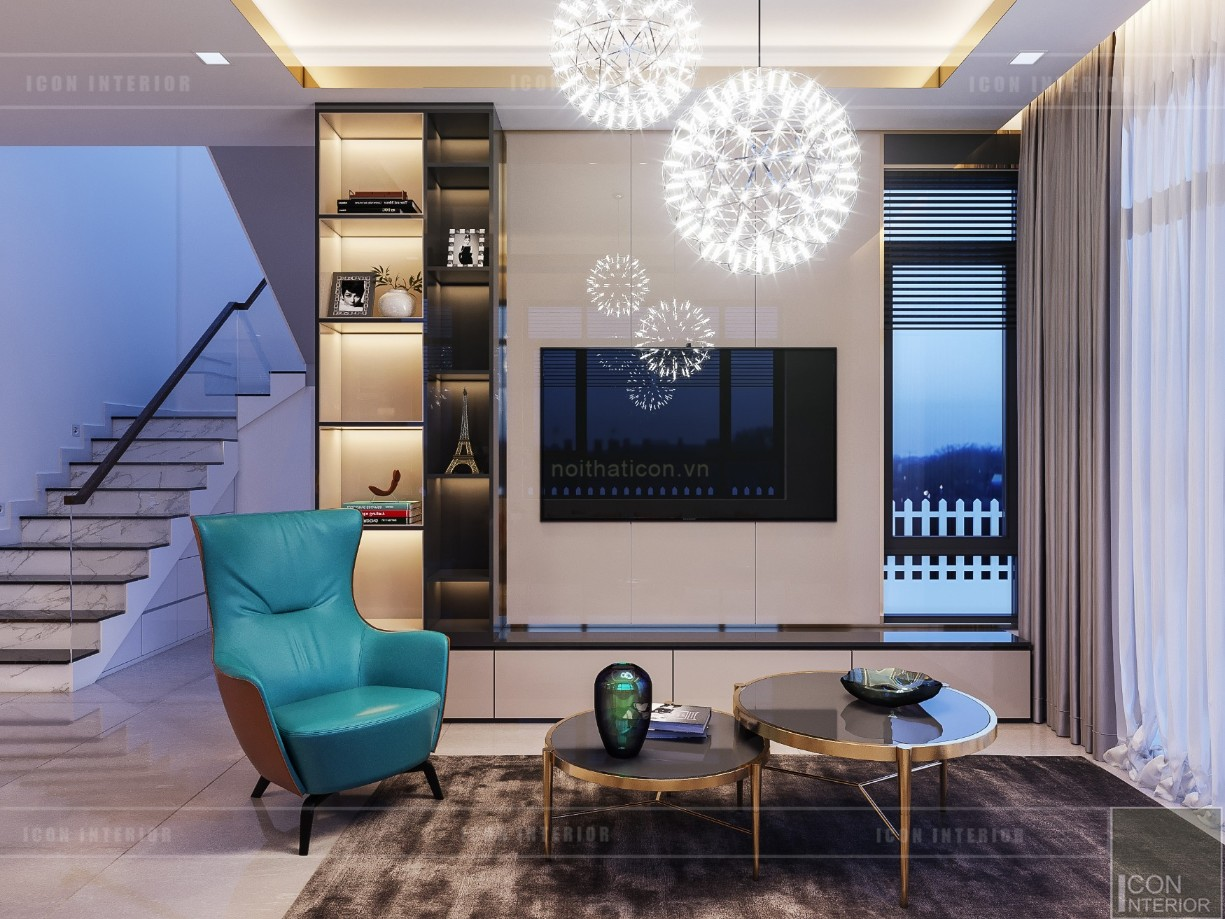 phong cách hiện đại trong thiết kế nội thất - phòng khách