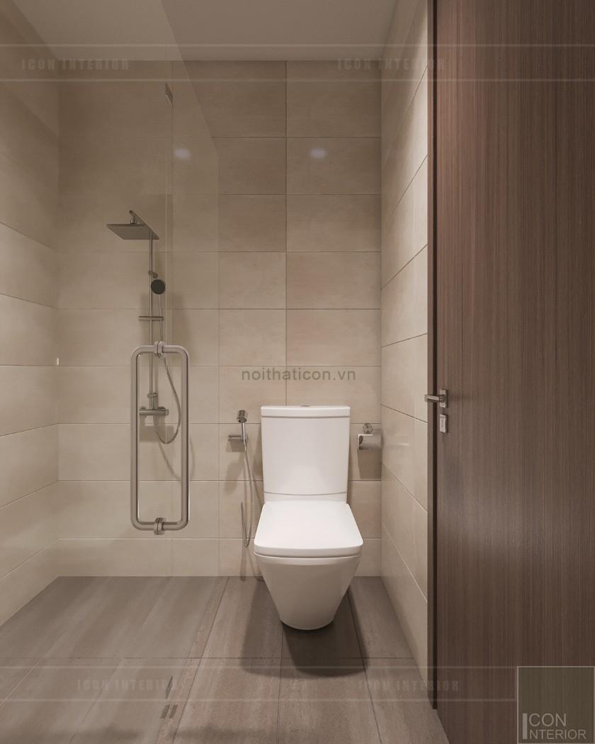 phong cách hiện đại trong thiết kế nội thất - phòng vệ sinh tầng 1