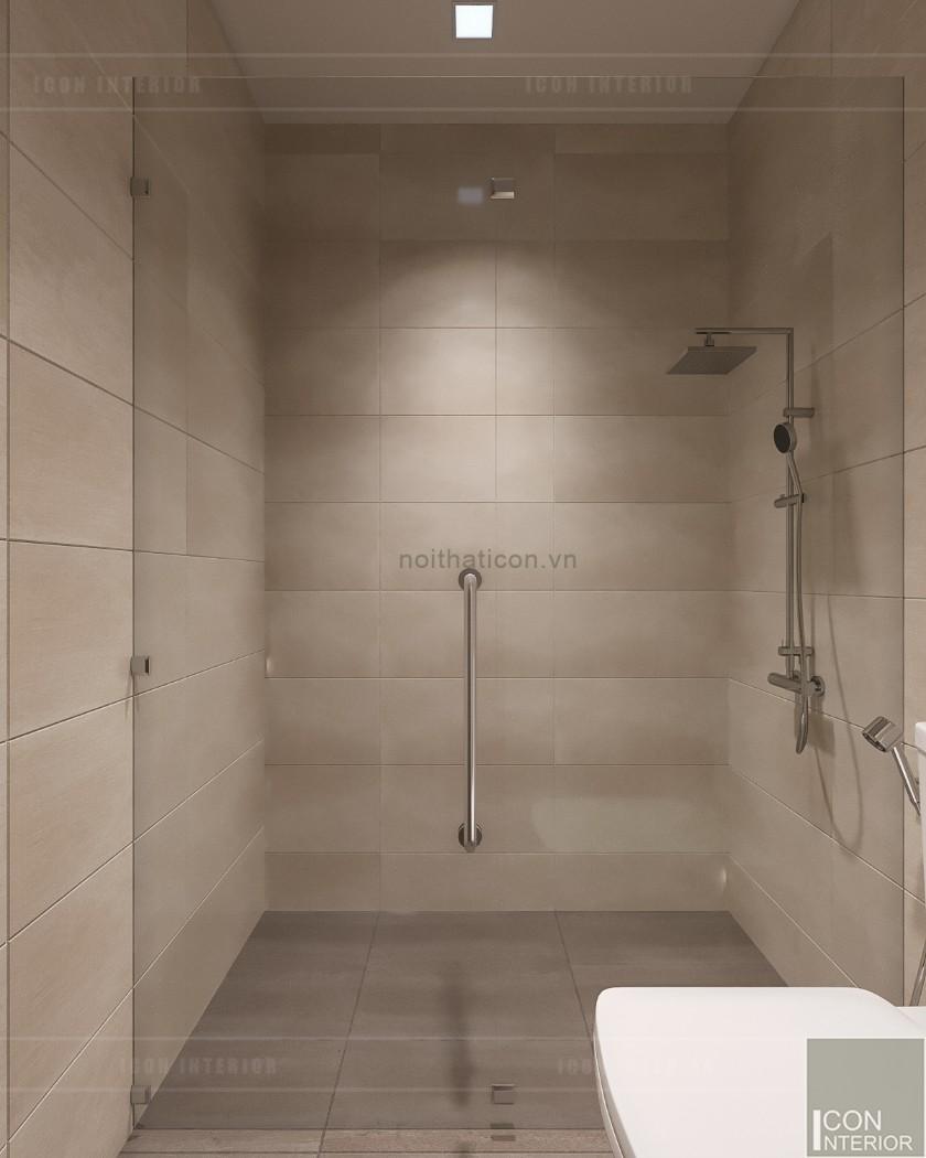 phong cách hiện đại trong thiết kế nội thất phòng vệ sinh tầng 1
