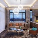 phong cách hiện đại trong thiết kế nội thất phòng khách