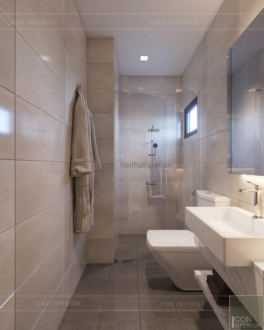 phong cách hiện đại trong thiết kế nội thất phòng vệ sinh tầng trệt