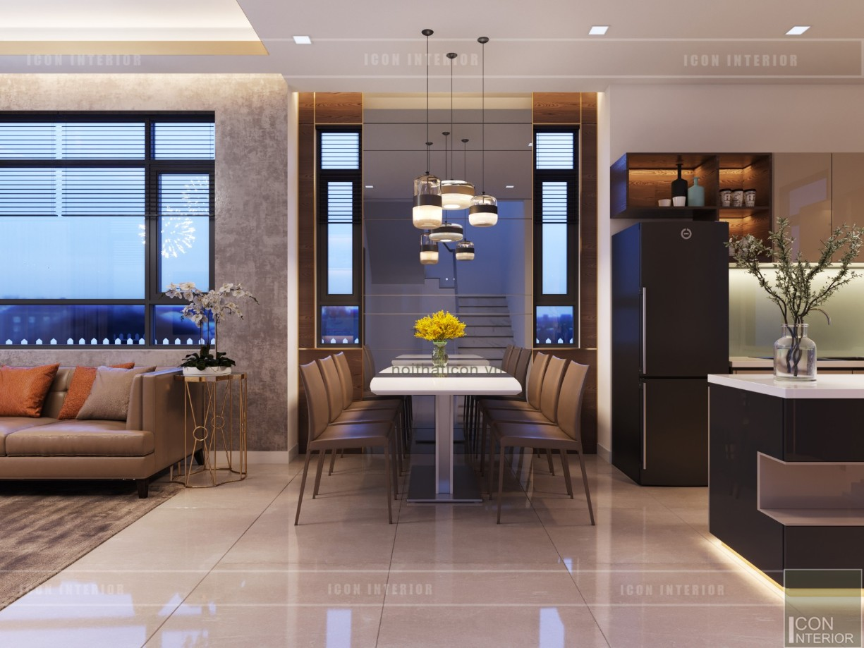 phong cách hiện đại trong thiết kế nội thất phòng ăn