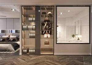 thiết kế nội thất nhà phố - hệ thống tủ kệ