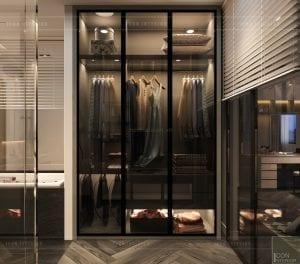 thiết kế nội thất nhà phố - tủ quần áo