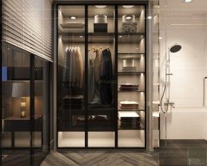 thiết kế nội thất nhà phố - tủ quần áo phòng master