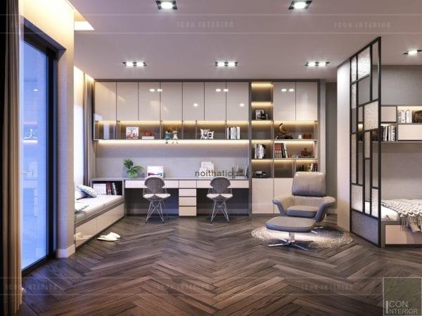 thiết kế nội thất nhà phố - phòng học tầng 2