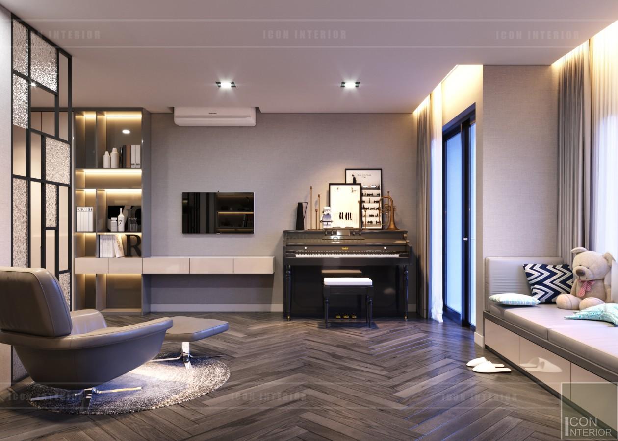 thiết kế nội thất nhà phố - tầng 2 piano