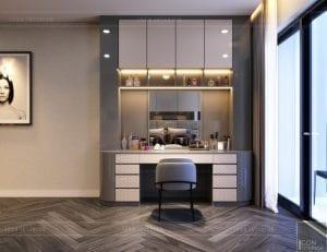 thiết kế nội thất nhà phố - bàn trang điểm