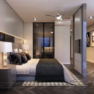 thiết kế nội thất nhà phố - tầng 1 phòng master