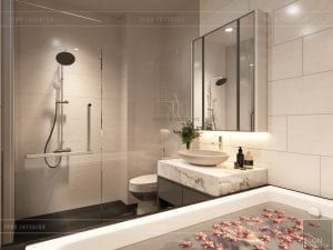 thiết kế nội thất nhà phố - phòng tắm phòng master
