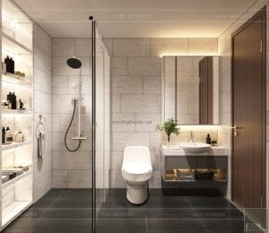 thiết kế nội thất nhà phố - tầng 2 phòng tắm