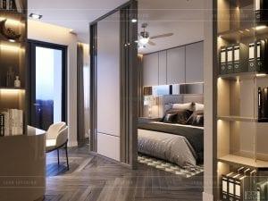 thiết kế nội thất nhà phố - phòng master