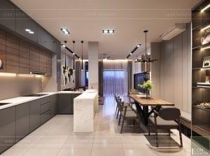 thiết kế nội thất nhà phố - tầng trệt phòng ăn