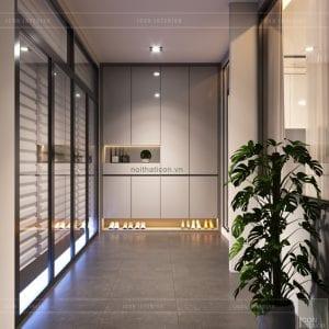 thiết kế nội thất nhà phố - tủ giày
