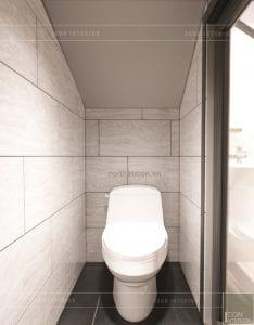 thiết kế nội thất nhà phố - wc tầng trệt