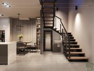 thiết kế nội thất nhà phố - tầng trệt