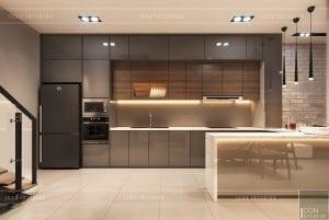 thiết kế nội thất nhà phố - nhà bếp