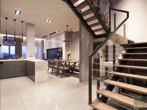 thiết kế nội thất nhà phố - cầu thang