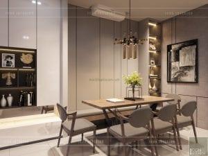 thiết kế nội thất nhà phố - phòng ăn