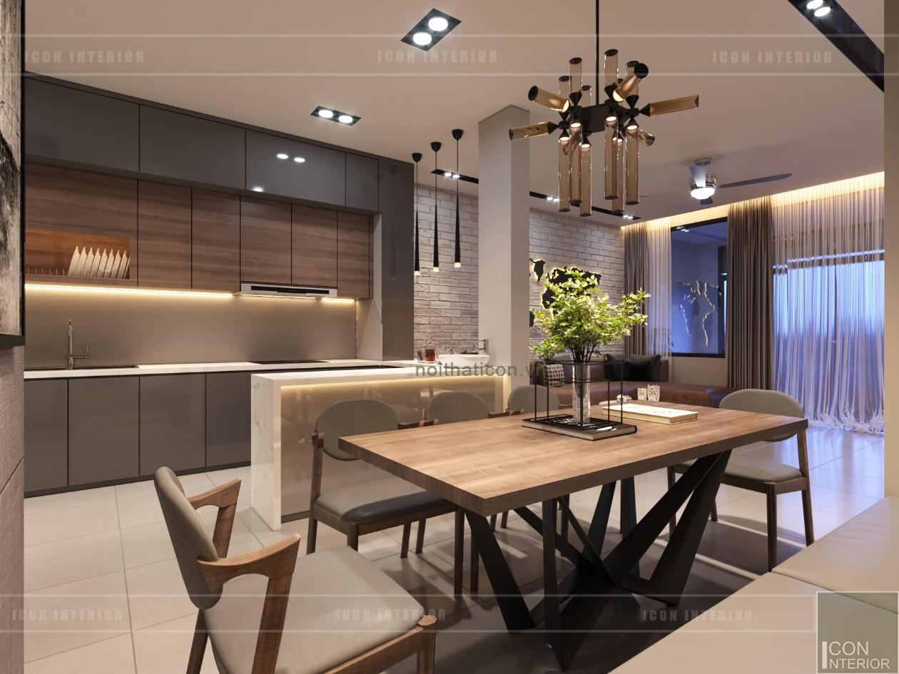 thiết kế nội thất nhà phố - khu vực bếp